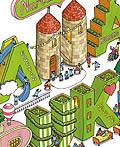 日本ANABUKI学院宣传海报插图设计