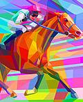 骑马插画设计