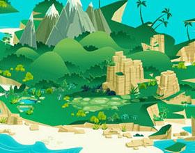 James Gilleard小岛风景插画设计作品