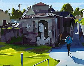 波兰Michal Sawtyruk人与城市系列插画设计作品欣赏