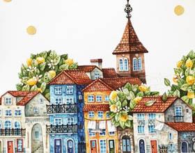 乌克兰插画家Tonia Tkach《花巷》主题唯美插画