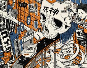 20张法国插画家的日式复古风插画设计作品