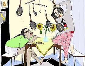 汉堡插画家Johanna Ploch的幽默插图