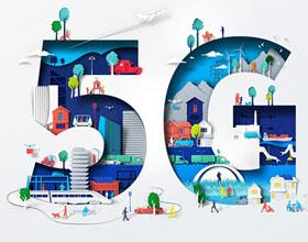 剪纸风格的NOKIA 5G主题插画欣赏