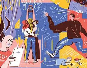 插画家Kati Szilágyi关于性的抽象插画