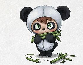 20个有趣的熊猫插图