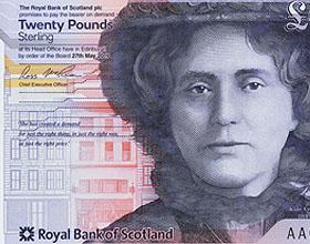 美丽的红松鼠插图―苏格兰皇家银行新钞票