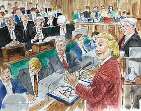被告席上:英国四位艺术家的法庭插画故事