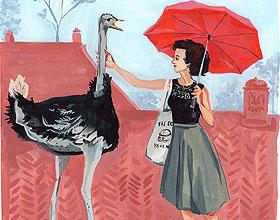 Jenny Kroik的社交特色插画