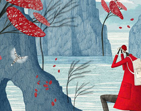 英国插画家 Rosanna Tasker想象力女性人物插画:负空间思考