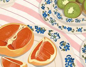 夏日的味道―诺丁汉插画家的美食插画