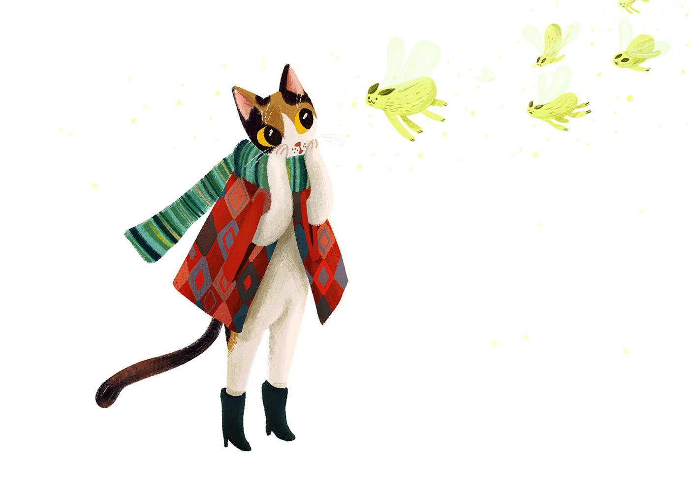 波兰<a href=http://www.ccdol.com/sheji/chahua/ target=_blank class=infotextkey>插画</a>师的绿植和可爱动物<a href=http://www.ccdol.com/sheji/chahua/ target=_blank class=infotextkey>插画</a>作品