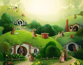 波兰插画师的绿植和可爱动物插画作品