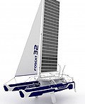 折叠式太阳能双体船