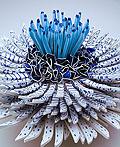 漂亮的花朵陶瓷碎片艺术品