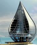 未来概念建筑―水滴型生态大楼
