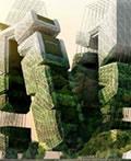 印尼水循环绿色植被摩天楼