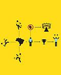 简约的国际足联2014年世界杯系列海报