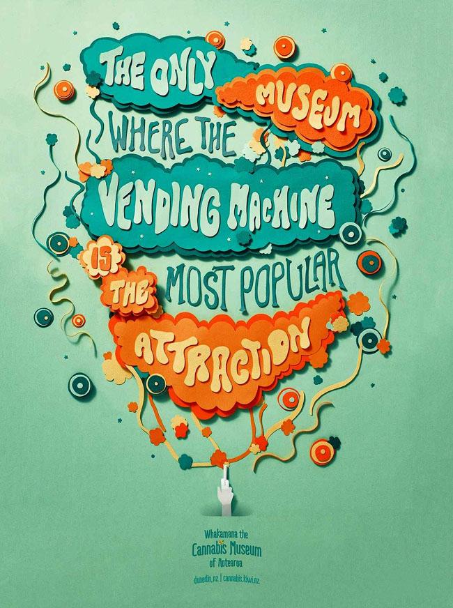 澳大利亚Cannabis博物馆字体海报欣赏