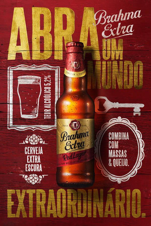 Brahma Extra啤酒海报设计欣赏