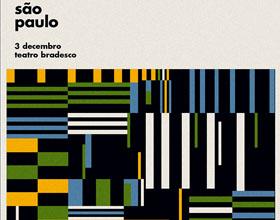 几何图案构成的Fito Paez巴西巡演海报设计欣赏