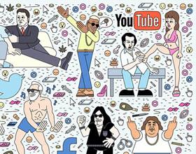 Filippo的讽刺意大利流行文化插画风格海报设计欣赏