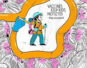 联合国儿童基金会牛痘疫苗系列海报设计