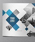 现代时尚的蓝色画册设计