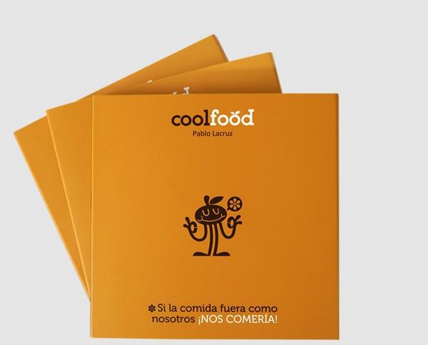 酷食品橙色画册设计