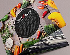 创意的Chefatwork餐饮专业知识手册设计欣赏
