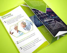 22款国外优秀三折页商务画册设计欣赏
