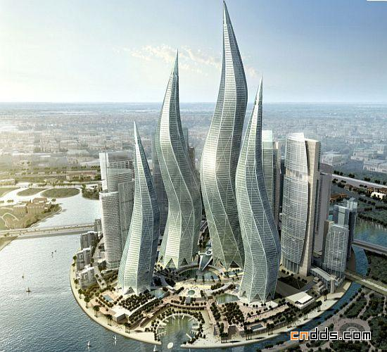 迪拜的外星建筑