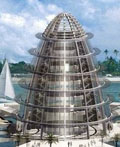 未来浮动生态城市建筑设计
