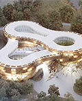 襄阳郊外环形酒店建筑设计