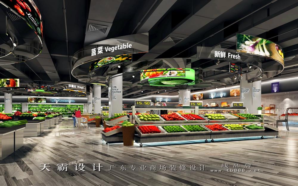 原创长沙超市装修设计等商场设计效果图