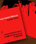 红色商务名片设计