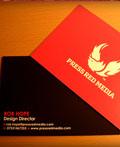 红色调商务名片设计欣赏