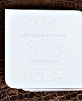 38款创意的正方形商务名片设计