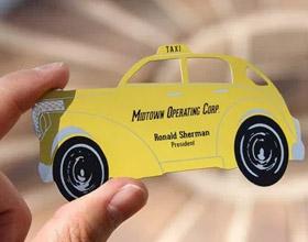 23张创意出租车名片设计
