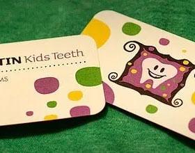 20张精美的牙医名片