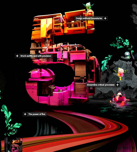 Adobe CS5系列产品宣传海报