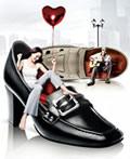 关于鞋的平面广告设计