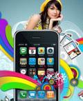 精彩酷炫的iphone手机平面广告设计