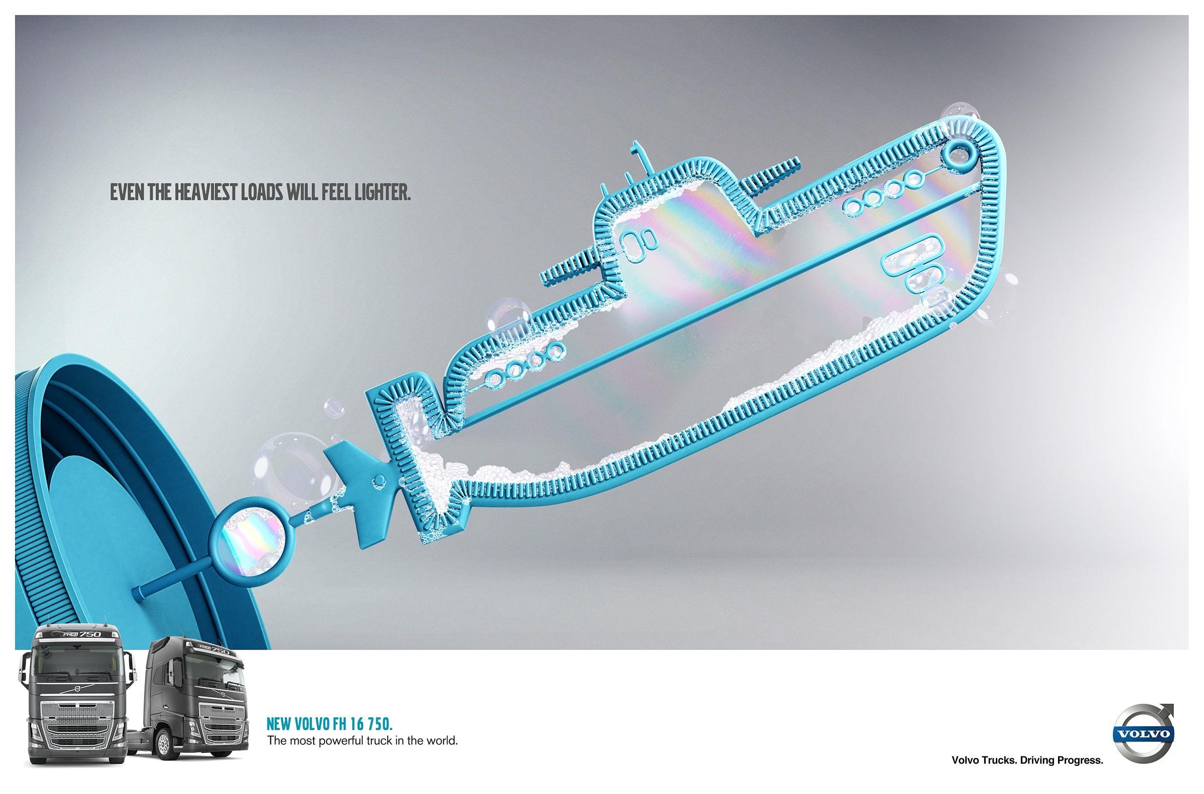 沃尔沃卡车创意广告_沃尔沃汽车平面广告设计-中国设计在线