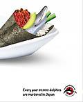 以色列Save Japan Dolphins公益平面广告设计