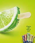 巴西Ajellso冰淇淋平面广告设计