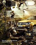俄罗斯大众汽车平面广告设计