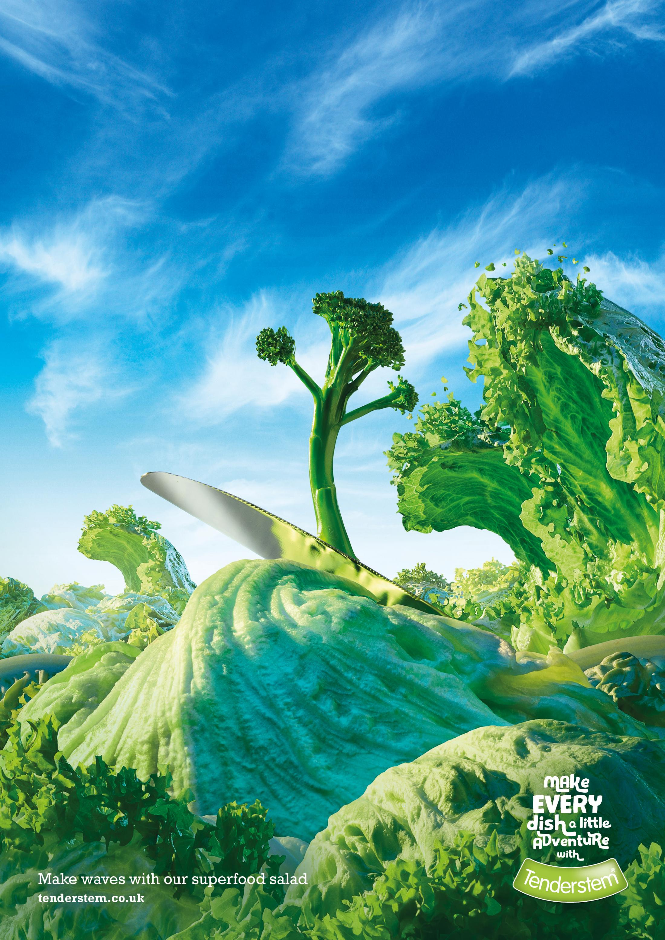 数码品牌logo_英国Tenderstem食品平面广告设计-中国设计在线