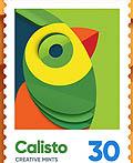 时尚的Birds集邮平面设计