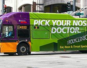 美国综合医院户外公共汽车平面广告设计